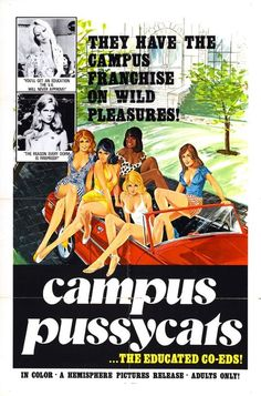 Campus Pussycats, movie poster  Source: X-Rated