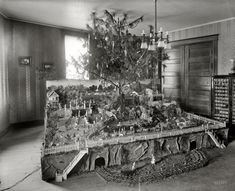 """A Keen Christmas - 1920:"" The Christmas tree of Mrs. A.M.Keen, ca. 1920. Washington, D.C.- Harris & Ewing glass negative."