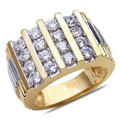 Ebay NissoniJewelry presents - Men's 1CT Diamond Fashion Ring in 14k Yellow Gold with a Cage Back    Model Number:GR9308K-Y477J    http://www.ebay.com/itm/Men-s-1CT-Diamond-Fashion-Ring-in-14k-Yellow-Gold-with-a-Cage-Back/321612117130
