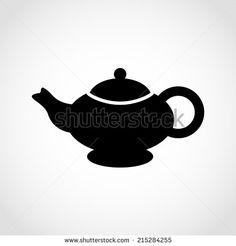 Teapot Icon Isolated on White Background