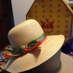 9bef32e7d4312 Vintage Imported Genuine Panama Straw Sun Hat Fedora