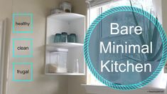 Economical Minimalist Kitchen -- perfect for newly weds, bachelors, minimalists, and college grads -- minimalist kitchenware, affordable, eco-friendly, easy to clean kitchen