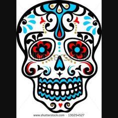 La Calavera Catrina Elegant Skull Dia de Muertos Seamless ...