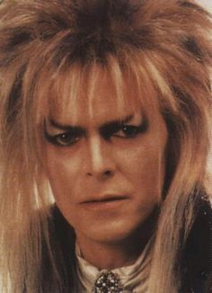 "David Bowie as the Goblin King in the movie, ""Labrynth"""