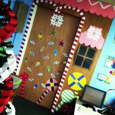 """""""Gingerbread House"""" December Classroom Door!"""