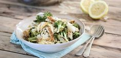With chicken, roasted broccoli and Parmesan. recipes. pasta, chicken