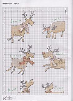 Cross-stitch Santa's Reindeer, part 4.. color chart on part 5... Gallery.ru / Фото #3 - 11 - mikolamazur