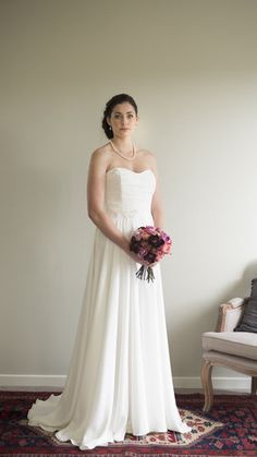 Merlot Dress in Silk Crepe De Chine by Sophie Voon Bridal Sophie Voon wedding dresses lovingly designed and crafted in our Wellington, New Zealand workroom. Half Circle, Bridal Wedding Dresses, Lace Bodice, Silk Crepe, One Shoulder Wedding Dress, Skirts, Crafts, Collection, Design