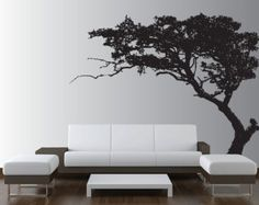 Grote muur boom Decal Forest Decor Vinyl Sticker zeer