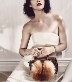 The Cat's Meow - Fall Fur Handbags - W Magazine October 2015 by Emma Tempest
