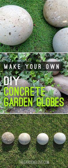 DIY Concrete Garden Globes Z