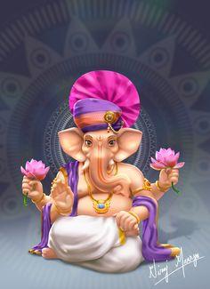 Ganesh Ji Images, Durga Images, Ganesha Pictures, Ganesha Drawing, Ganesha Painting, Ganesha Art, Ganesh Lord, Sri Ganesh, Ram Navami Photo