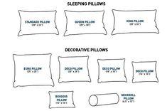 bed pillow measurements