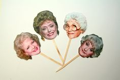 Golden Girls Cupcake Toppers  Golden Girls  by PaperPartyParade