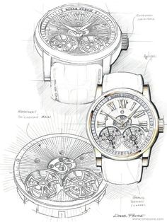 TimeZone : Industry News » SIHH 2014: Roger Dubuis Hommage Double Flying Tourbillon with hand guilloché