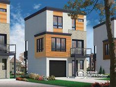 troite confortable conomique bien pense mini maison contemporaine 3 chambres aire - Maison Moderne Avectoiture