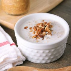 Quick and easy overnight pumpkin pie oatmeal. Eat it hot or cold, it's perfect for crisp fall mornings!