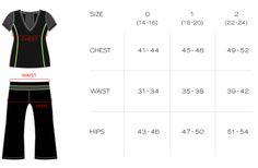 Size Chart - Activewear - Plus Size Activewear   LolaGetts.com