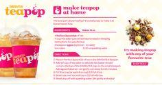 Iced Tea Pop recipe from Davids Tea Davids Tea, Smoothies, Dessert Drinks, Desserts, Iced Tea Recipes, Drink Recipes, Tea Latte, My Cup Of Tea, Non Alcoholic