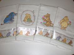 precious. Classic Pooh burp cloths