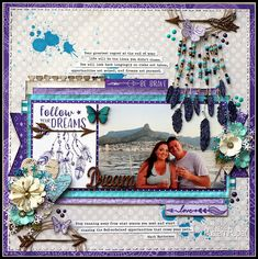 Follow Your Dreams Layout by #LynetteJacobs using #LadyPatternPaper > #LilyDaydream range