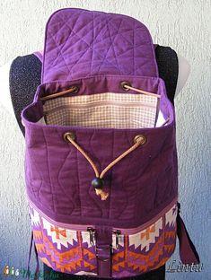 Textil hátizsák népi mintázatú anyagból (Lintu) - Meska.hu Textiles, Lany, Fabric Bags, Cloth Bags, Diaper Bag, Pouch, Backpacks, Handbags, Quilts