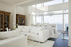 Villa White - Olohuone ja ruokailutila