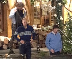 Later that evening William, having changed into a Nordic-style sweater and jeans, and the group were seen dining at La Channe restaurant, where a beef fondue costs £48 and a chicken salad is £32