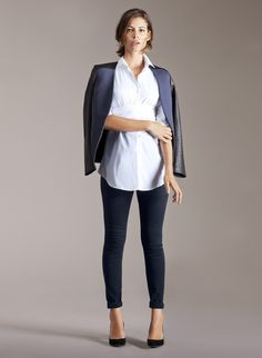 Tie Front Maternity Blouse
