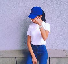 ImageFind images and videos about style, blue and outfit on We Heart It - the app to get lost in what you love. Casual Outfits, Summer Outfits, Cute Outfits, Fashion Outfits, Style Fashion, Foto Casual, Inspiration Mode, Outfit Goals, Fashion Killa