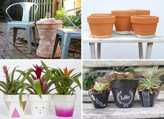 Upgrade terra cotta plant pots with paints or mosaic tiles, or turn them into brand new creations such as a table or decorative lighthouse for the garden.
