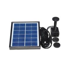 Solarrific Solar-Powered Water Fountain Kit-G3017 - The Home Depot