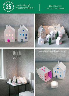 Ljushus av papperDetta pyssel är mitt första bidrag till julkalendern 25 kreativa dagar i decembersom presenteras av nätverket The Creative Collective, som jag är en del av....