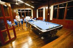 Chill out at night with a game of billiards if you're not keen on seeing some creepy crawlies during the Night Walk! Park Resorts, Brunei, Cambodia, Laos, Philippines, Singapore, Creepy, Chill, Thailand