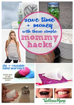 These mommy hacks are tips for moms to save money, save time or avoid hassle. Make foaming hand soap, reuse old socks, whiten teeth naturally & more.