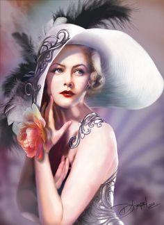 4096 Fantasy Women Art - Art Abyss - Page 5 Vintage Beauty, Vintage Art, Vintage Ladies, Victorian Ladies, Fantasy Women, Fantasy Art, Color Mauve, Earth Design, Portraits