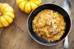Pumpkin Oatmeal - This is a wonderful way to get into the holiday spirit at breakfast time, not to mention a whole load of cancer fighting nutrients too. This is a perfect recipe for almost any stage of treatment and tastes so very good. Enjoy!
