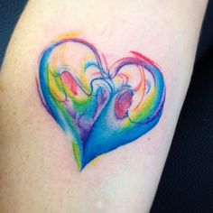 """Something new and different with watercolour #watercolour #watercolourtattoo #watercolor #watercolortattoo #heart #hearttattoo #colourtattoos #yyctattoo…"""