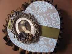 Marie Antoinette altered candy heart box