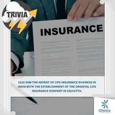 #ChoiceBroking #Trivia - 1818 saw the advent of life #insurance business in India with the establishment of the #Oriental Life Insurance Company in #Calcutta