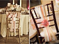 Decorate your wedding reception chairs with simple and lovely bow designs Wedding Chair Bows, Wedding Chair Decorations, Wedding Reception Centerpieces, Wedding Chairs, Wedding Receptions, Wedding Trends, Wedding Blog, Our Wedding, Wedding Ideas
