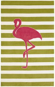 Mohawk Home Fancy Flamingo Rectangular Rug