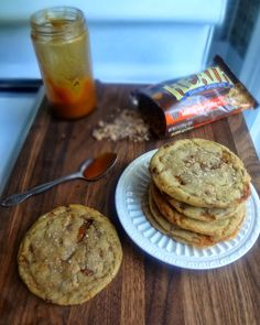 The Cooking Actress: Brown Butter Salted Caramel Stuffed Toffee Chip Cookies for #CookieWeek