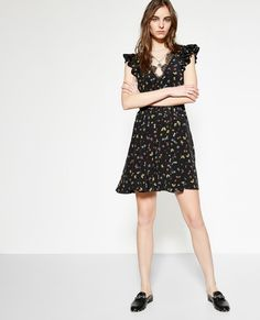 Black silk crepe dress with a Ladybird print - THE KOOPLES WOMAN