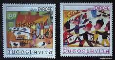1981-YUGOSLAVIA-COMPLETE-SET-MNH-children-child-draw-cow-animal-serbia-J21