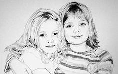 Doppelportrait Bleistiftzeichnung