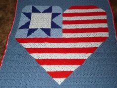 Heart of America USA Flag Quilted Granny by maltesedreamer