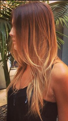 balayage hair painting beachy hair