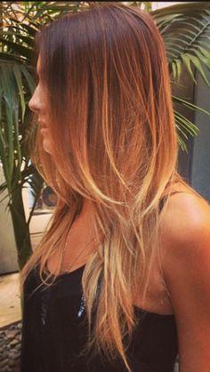 balayage hair painting beachy hair