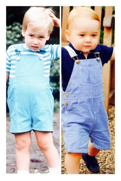 Prince William 1984 and Prince George 2014